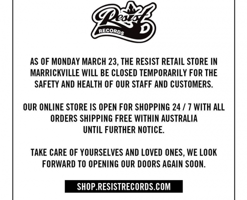 Resist Records COVID-19 announcement
